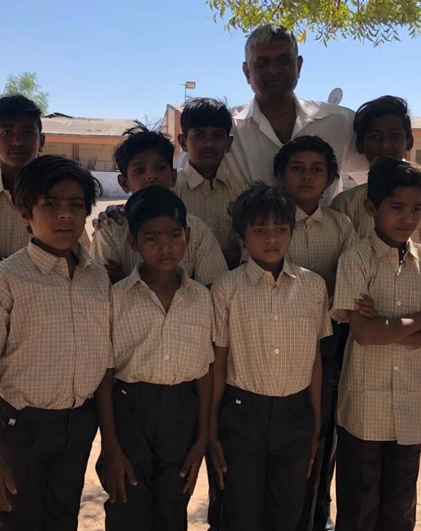 Indian Children Photos with teacher